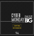 cyber monday sale card design vector image