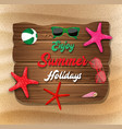 enjoy summer holiday banner background vector image