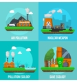 Environmental Pollution Colored Icon Set vector image