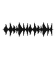 equalizer song icon simple black style vector image vector image