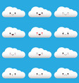 flat design cartoon cute cloud character with vector image vector image