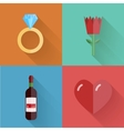 flat modern love backgrounds Eps10 vector image vector image