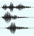 frequency seismograph waves seismogram vector image vector image