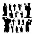 geisha silhouettes vector image