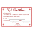 gift certificate vector image vector image