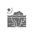 global warming iceberg grey icon isolated vector image