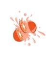 Grapefruit Cut In The Air Splashing The Juice vector image