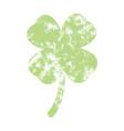 grunge clover shamrock vector image vector image