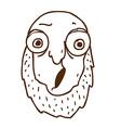 Hand Drawn Cartoon Man with a Beard vector image