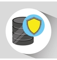 Hand holds data shiled protection icon vector image