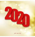 happy new year 2020 winter holiday greeting card vector image vector image