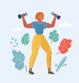 healthy fitness girl vector image vector image
