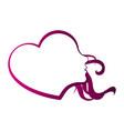 heart shaped girl avatar vector image