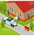 Home Security Alarm Response Isometric vector image vector image