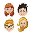 Illlustration set of different modern icons of vector image vector image