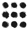 Ink paint banners set vector image vector image