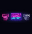 jazz music neon sign jazz music design vector image vector image