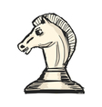 knight - chess figure vector image vector image