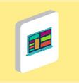 laptop computer symbol vector image vector image