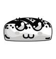 line kawaii cute thinking bakery bread vector image vector image