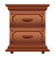 luxury nightstand icon cartoon style vector image vector image