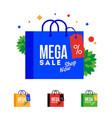 mega sale word on shopping bag vector image