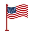 memorial day waving flag in pole american vector image