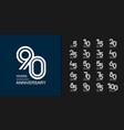 modern geometric anniversary celebration icons vector image vector image
