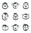 Monkey head icon vector image