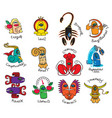 monsters signs of the zodiac icons for horoscopes vector image vector image