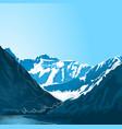 mountain altai landscape vector image