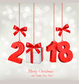 new year holiday background with a 2018 and a vector image
