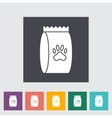 Pet food bag vector image vector image