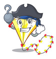 pirate kite cartoon fly away in sky vector image vector image