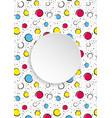 pop art colorful confetti background big colored vector image