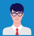 portrait an asian businessman in eyeglasses vector image