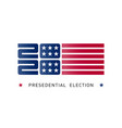 poster for united states presidential vector image vector image