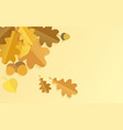 realistic background with autumn color oak vector image vector image