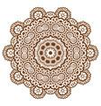 round brown mandala vector image vector image