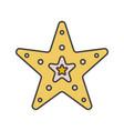 sea star color icon vector image
