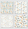 set four terrazzo seamless patterns modern vector image vector image
