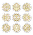 set of decorative plates with a arabic golden vector image