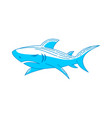 shark strength logo design outline isolated vector image vector image