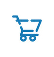 shopping cart graphic icon design template vector image vector image