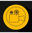 silhouette head concept cinema camera vector image vector image