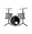 simple drums instrument graphic vector image vector image