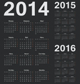 Simple russian 2014 2015 2016 year calendars vector image vector image