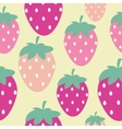 Simple Strawberry Seamless Pattern Background vector image vector image
