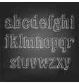 small letters on chalkboard vector image