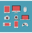 technology and devices icons set vector image vector image